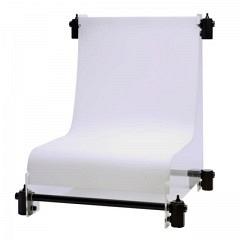 Aufnahmetisch, mini, Breite 50 cm, Oberseite reflexionsfrei